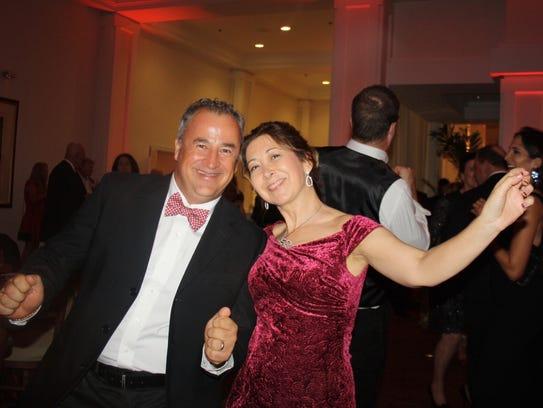 UP board member Isabelle Richard dancing with husband