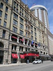 The Pfister Hotel viewed from the N. Jefferson St.