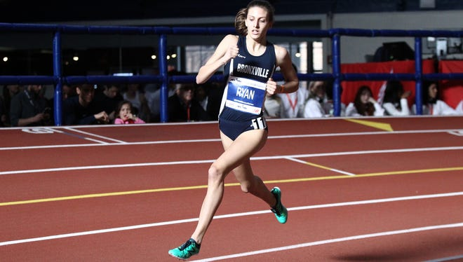 Bronxville's Kaitlin Ryan runs the girls mile with a 4:57.23 time at the Millrose Games at The Armory Track & Field Center in New York on Saturday, February 11, 2017.