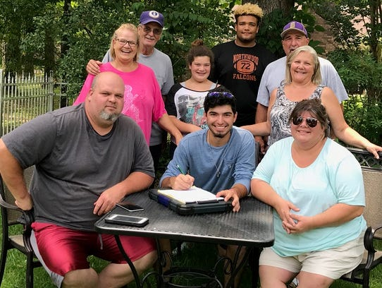 Northwood's Nick Thompson recently signed with Frank