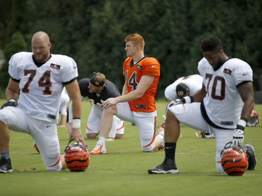 Cincinnati Bengals offensive tackles Jake Fisher (74)