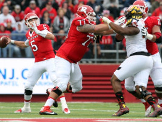 The Rutgers Scarlet Knights take on the Terrapins of the University of Maryland in the season finale of Big Ten football season at High Point Solutions Stadium in Piscataway on Saturday November 28,2015.