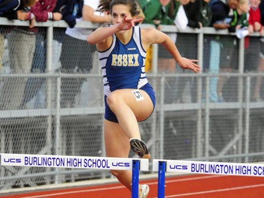 Essex's Katie Polakowski broke the 300 hurdles state