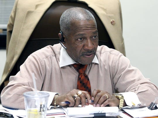 Mount Vernon City Clerk George Brown during a City Council committee meeting at city hall Jan. 24, 2017.