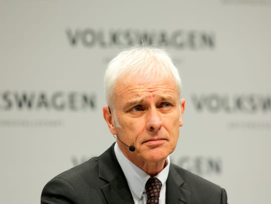 File photo taken in 2018 shows Volkswagen Group CEO