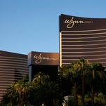 This June 17, 2014 file photo shows the Wynn Las Vegas and Encore resorts in Las Vegas, both owned and operated by Wynn Resorts.