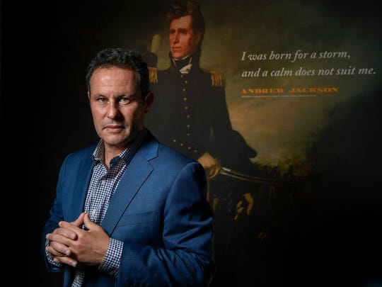 Fox News network morning show co-host Brian Kilmeade talks about his book on Andrew Jackson at the The Hermitage in Hermitage, Tenn., Saturday, Sept. 30, 2017.