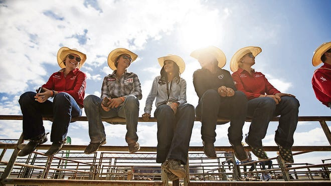 Wyoming high school students at the rodeo.