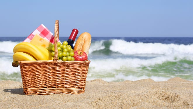 Pack a picnic basket and hang out at the beach or local park.