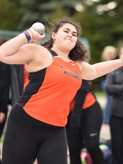 Northville's Gasia Oknayan makes the attempt in the