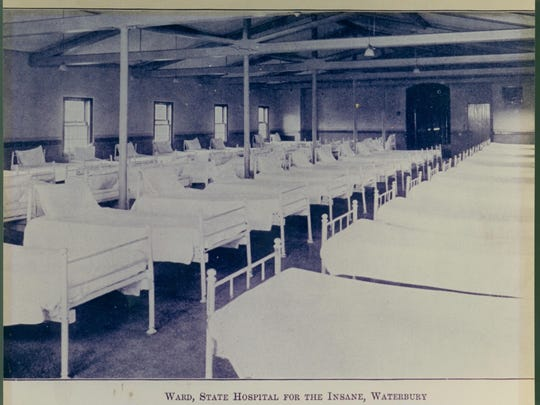 A ward at the Vermont State Hospital in 1918.