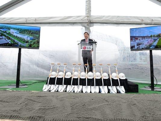 LG HQ Groundbreaking