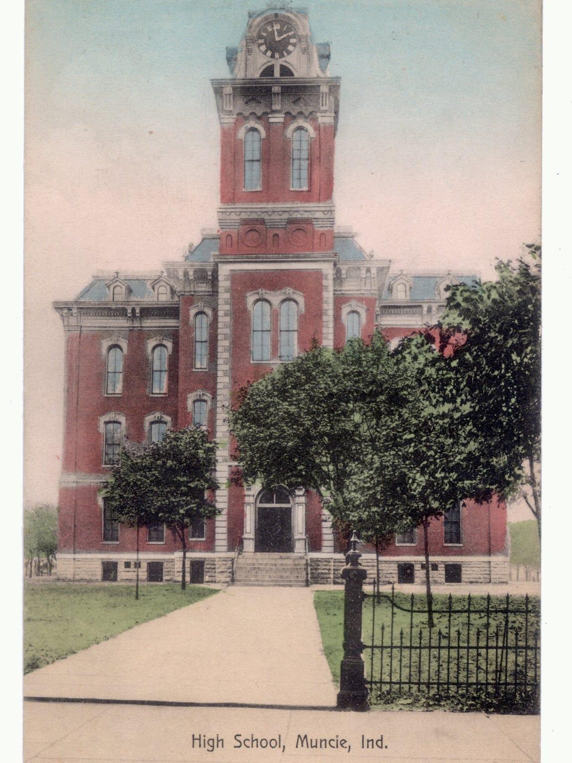 #13 Muncie High School - pre Central - Circa 1910 from postcard.jpg