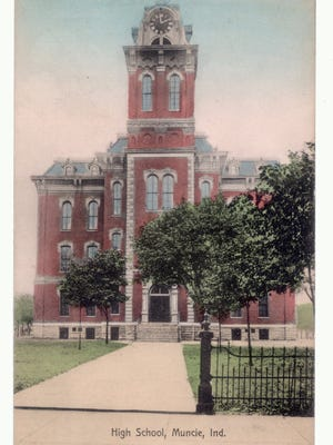 A postcard from around 1910 shows Muncie High School, the building that predated the old Central High School downtown.
