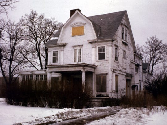 The Cooley-Haze house before its quarter-of-a-million-dollar restoration in the 1980s.