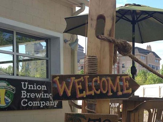 Union Brewing Company in Carmel invites visitors to enjoy a beer on the patio.