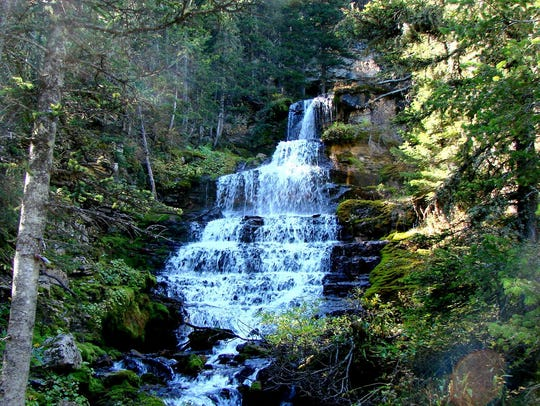 The Crystal Cascades in the Big Snowy Wilderness Study