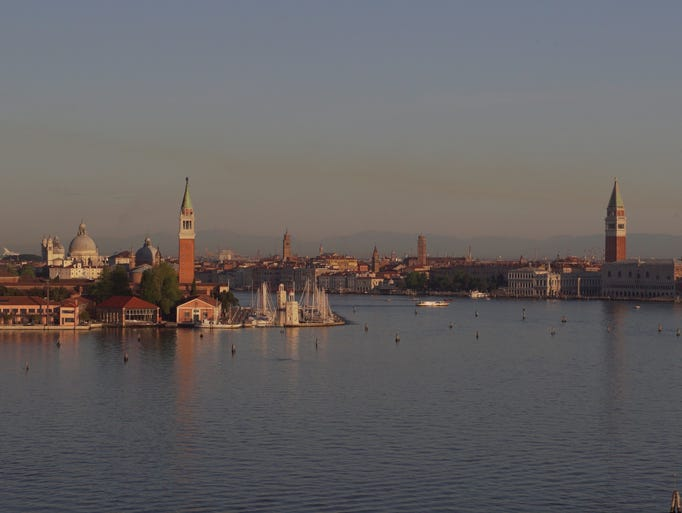 As you arrive by ship, Venice greets you with same