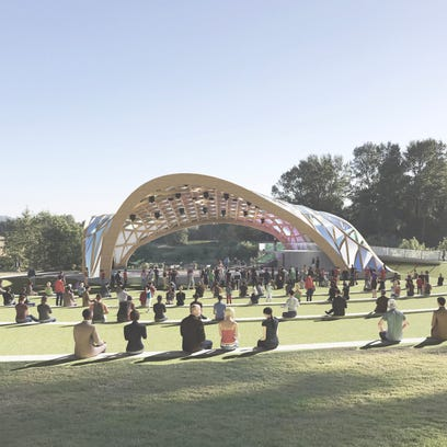 A rendering of a proposed amphitheater for Salem's
