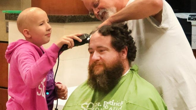 """Jason Souter had his head shaved during the second annual """"Shaving for Second Chances"""" event in 2018. This year's version of that event will take place virtually on Friday."""