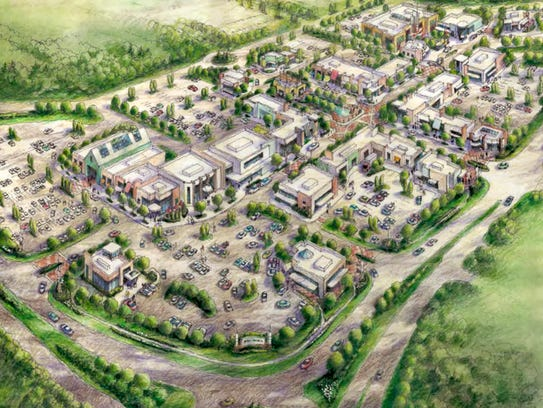 Rendering of the proposed Five & Main in Commerce Township.
