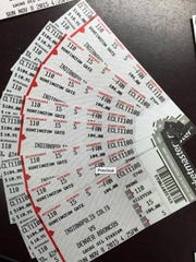 Counterfeit tickets for Sunday's Indianapolis Colts
