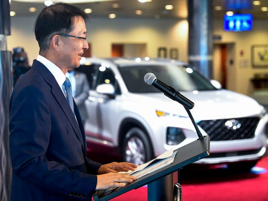 Hyundai Motor Manufacturing Alabama President and CEO Dong Ryeol Choi announces plans for a $388 million expansion in May.