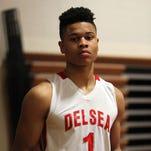Delsea High School basketball player Kaleb Morton is the SUPERPRETZEL Super Star Athlete of the Week, Wednesday, Mar. 25, 2015 in Franklinville.  Staff Photo/Sean M. Fitzgerald