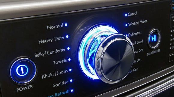 A Kenmore Elite washing machine