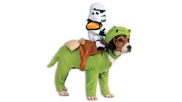 Is the stormtrooper really small, or is the dog really big?