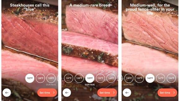 ChefSteps App: Steak doneness
