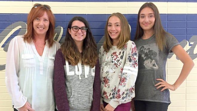 From left, are Ami Vinson, Ariadna Tudela Armengola, Sophia Vinson and Isabelle Vinson.