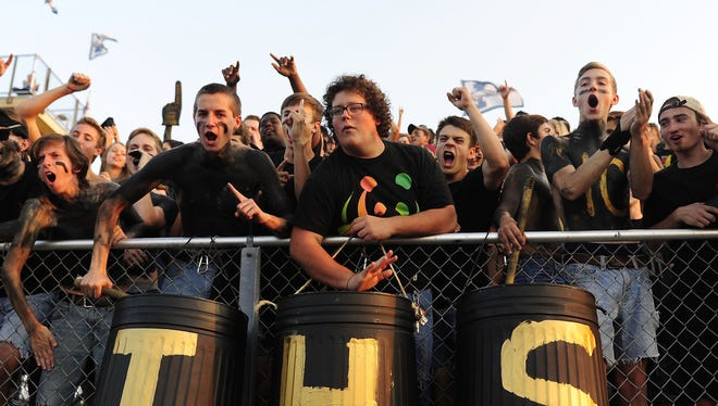 Independence students cheer on the Eagles during their Week 2 win over Centennial.
