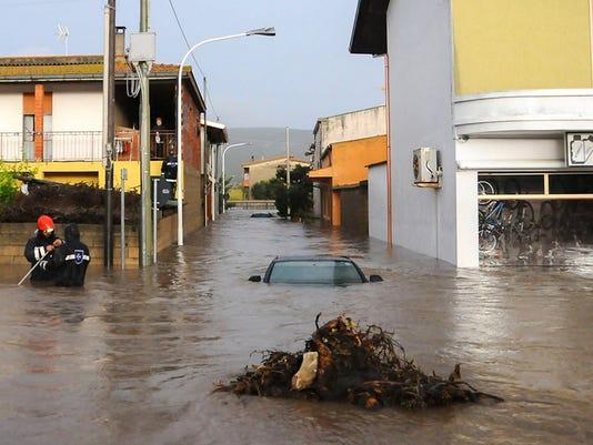 Deadly 'apocalyptic' storm floods Sardinia