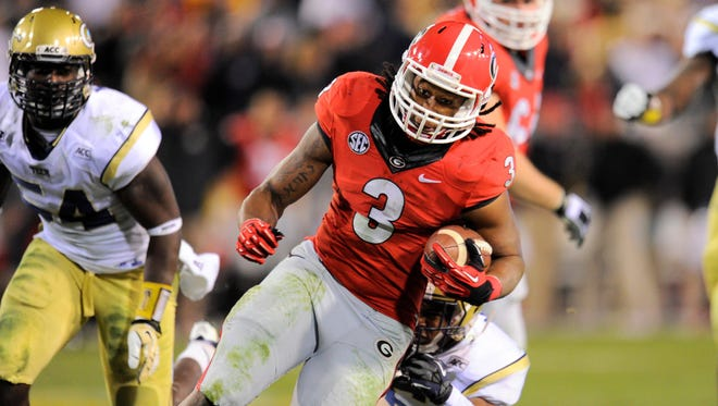 Running back Todd Gurley will be a big offensive weapon for Georgia.