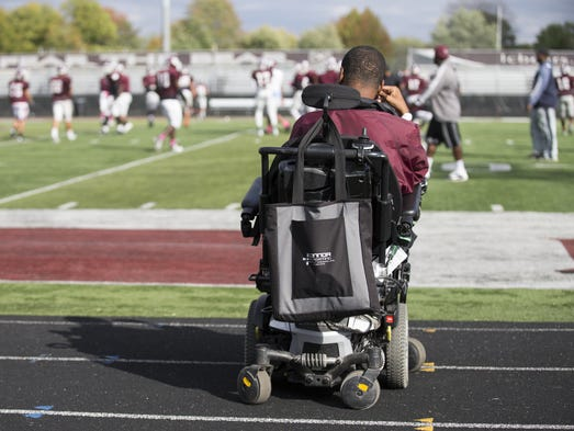 Emanuel Duncan, 18, who has Duchenne Muscular Dystrophy,