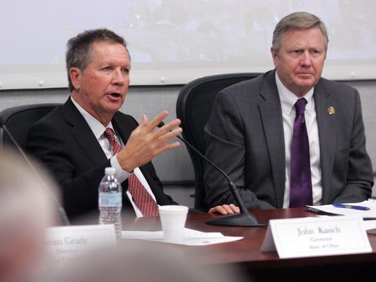Governor John Kasich responds to Buckeye Lake dam situation