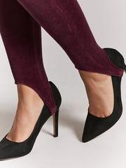 Velvet stirrup leggings