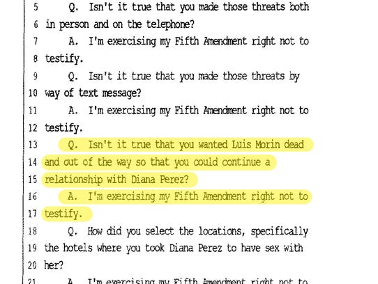 A screenshot of a deposition transcript shows Attorney