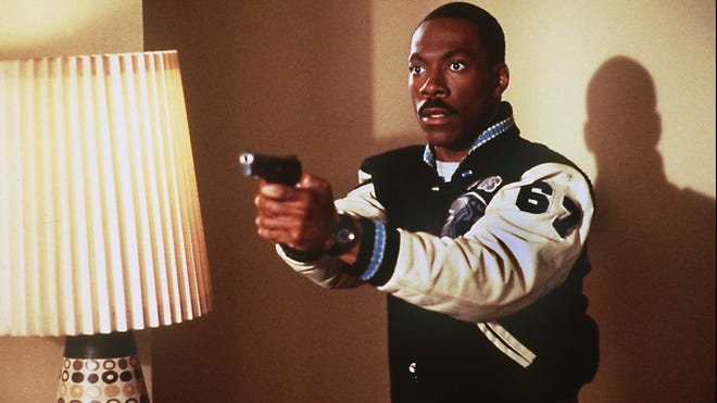 "Eddie Murphy in a scene from 1994's ""Beverly Hills Cop III."""