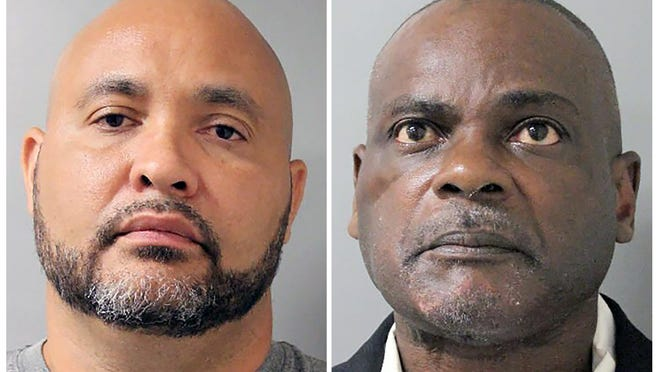 Steven Bryant, left, and Gerald Goines, who already faced murder charges, are among six former Houston police officers indicted Thursday. (Houston Police Department]