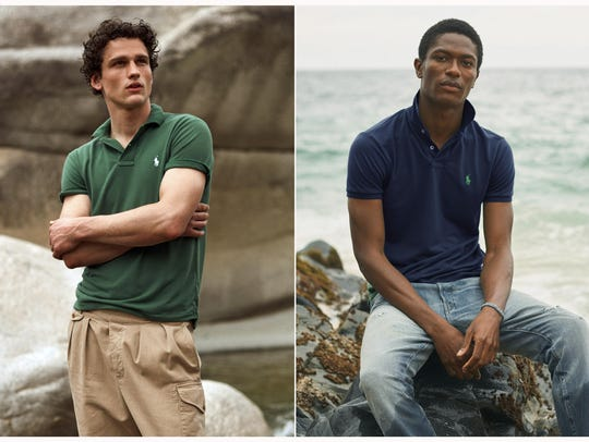 Polo shirts made from recycled plastic bottles. Each