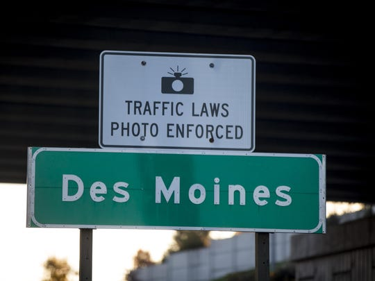 Des Moines is hopeful Iowa legislators won't prohibit automated traffic enforcement cameras, which generated $2.5 million for the city last year.