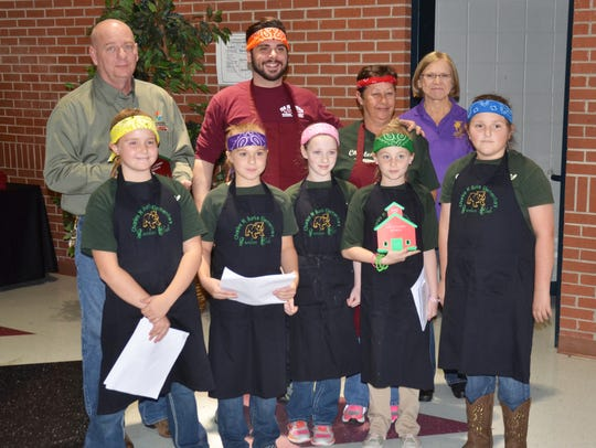 The team from Charles Burke Elementary took third place