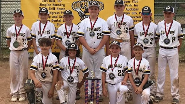 The Keyser Outlaws 11 u team took first place in the Pittsburgh area Backyard Brawl II Tournament this past weekend.