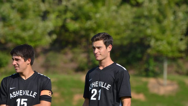 Asheville High senior Will Jones (21) has committed to play college soccer for Emory (Ga.).