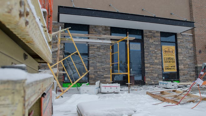 Work continues Sunday, Dec. 11, at the future Potbelly Sandwich Works in Fort Gratiot.