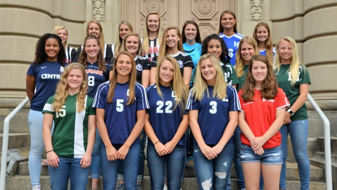 The members of the 2017 All-Enquirer Girls Soccer Team, as selected by area coaches and the Enquirer sports staff.