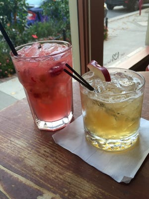 The Cranberry Smash and Sparkling Apple Cooler made The Continental's fall drink menu.