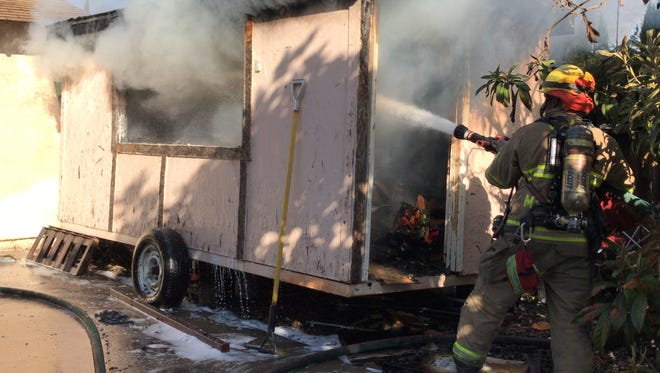 A Visalia family attempted to put out a fire at their home on Chavez Street and Court Avenue before calling Visalia Fire Department on Friday morning.